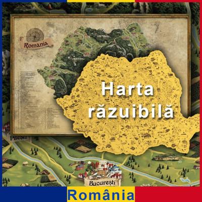 Mapa Zdrapka Rumunii Deluxe XL