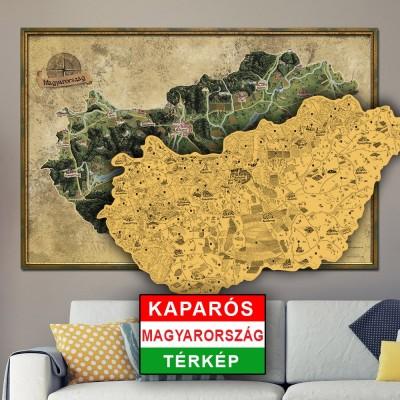 Mapa Zdrapka Węgier Deluxe XL