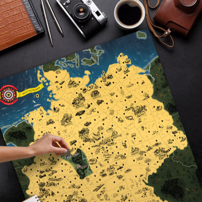 Mapa Zdrapka Niemiec Deluxe XL