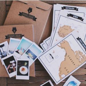 Dziennik podróży z mapami zdrapkami