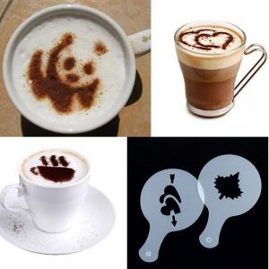 Szablony do zdobienia kawy