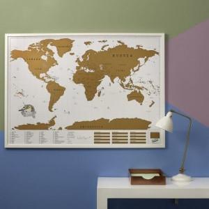 Podróżnicza Mapa Zdrapka - Świat XXL