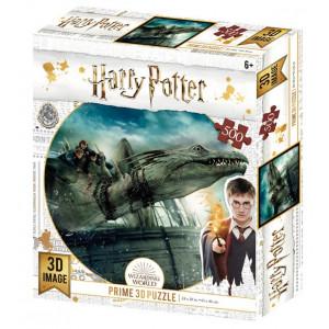 Harry Potter - 3D puzzle - ucieczka na smoku - 500