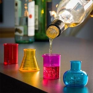 Chemické poháre na panáky(4ks)