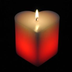 Magická sviečka (srdce)