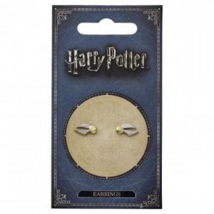 Harry Potter - kolczyki Złoty Znicz