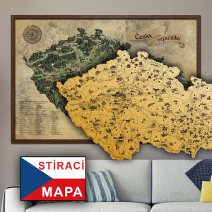 Mapa Zdrapka Czech Deluxe XL