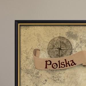 Mapa Zdrapka Polski w ramie