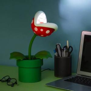 Super Mario - LED lampa Piranha