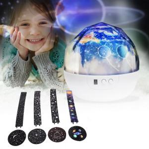 Projektor kosmiczny z 4 motywami
