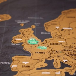 Mapa Zdrapka Świata DELUXE
