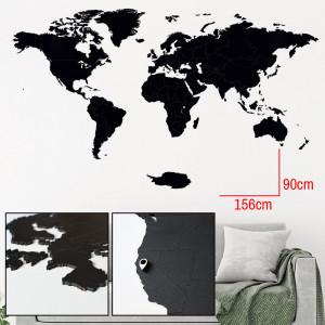 Luksusowa drewniana mapa na ścianę XL