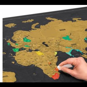Podróżnicza Mapa Zdrapka DELUXE XXL