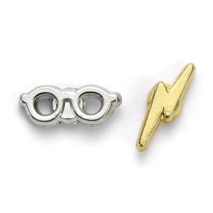 Harry Potter - kolczyki Piorun i okulary