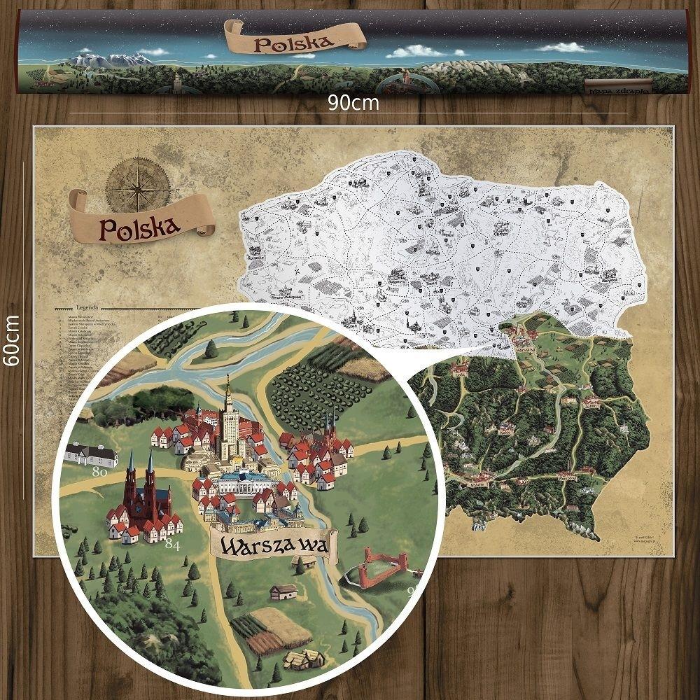Mapa Zdrapka Polski Deluxe Xl Prezenty Dla Mezczyzn Wybierz