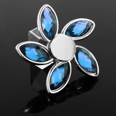 Fidget Spinner - Diamant modrý + strieborná