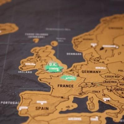 Cestovatelská stírací mapa - svět DELUXE