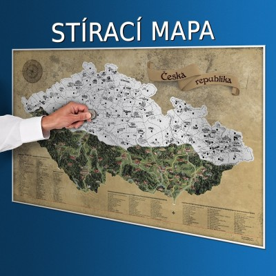 Stieracia mapa Česka DELUXE XL