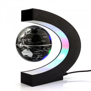 Levitujúcí glóbus s LED osvětlením