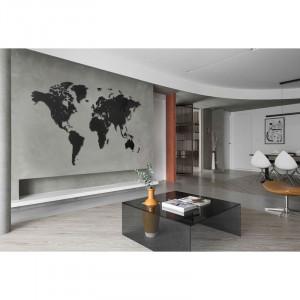 Luxusní dřevěná mapa na stěnu XXXXL černá