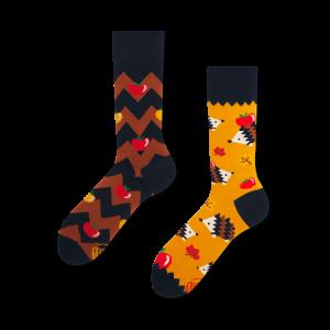 Veselé ponožky - Ježek a jablka