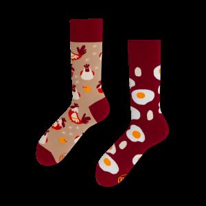 Veselé ponožky - Vajíčko a slepice