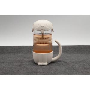 Hrnek na čaj se sítkem - pejsek