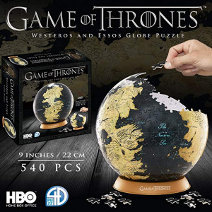Game of Thrones 3D puzzle - Westeros a Essos glóbus
