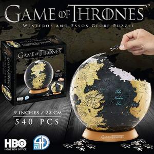 Game of Thrones 3D puzzle - Westeros a Essos glóbus