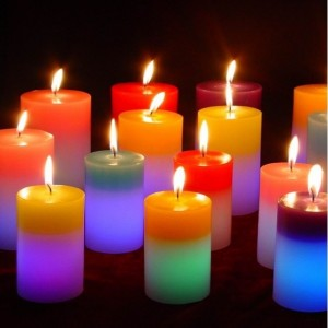 Magická sviečka multifarebná (kruhová)