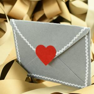 Romantická obálka se srdíčkem For You