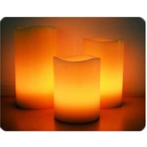 Elektrická sviečka z vosku (balenie 3ks)