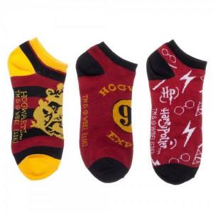 Harry Potter - set 3 párů kotníkových ponožek