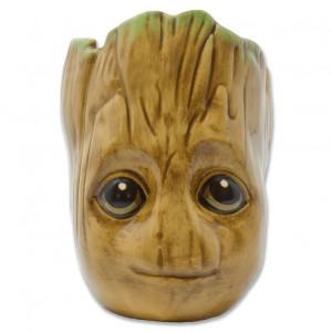 Strážcovia Galaxie - tvarovaný 3D hrnček Groot