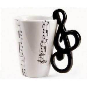 Hudobný hrnček - husľový kľúč