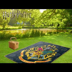 Harry Potter - pikniková deka s erbem Bradavic