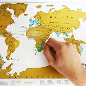 Cestovateľská stieracia mapa - Svet