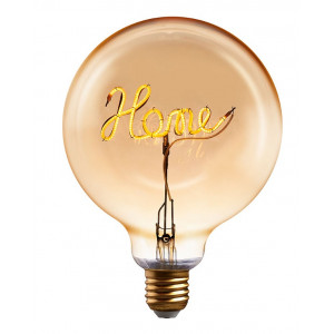 Žárovka s nápisem HOME