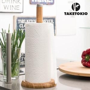 Držiak z bambusu na papierové rolky