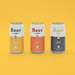Pivní ponožky - světlé pivo