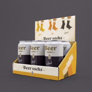 Pivní ponožky - tmavé pivo