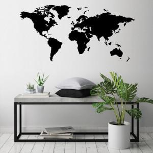 Dřevěná mapa na stěnu - MINI