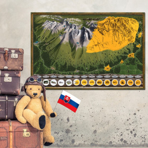 Stírací mapa Vysoké Tatry - Deluxe XL