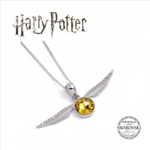 Harry Potter - náhrdelník Zlatá střela Swarovski DELUXE