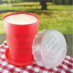 Skladací núdzový pohár
