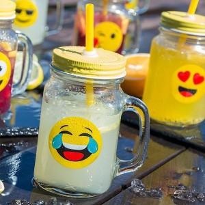 Retro smoothie poháre - 6ks emoji