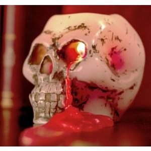 Sviečka - krvácajúca lebka (Halloween sviečka)