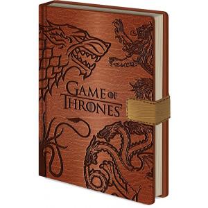 Game of Thrones - poznámkový blok s erbem rodů