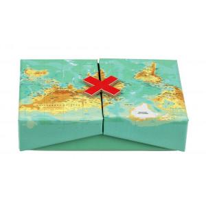 Dekorační krabička - mapa světa
