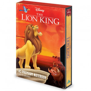 Leví kráľ - poznámkový blok v dizajne VHS